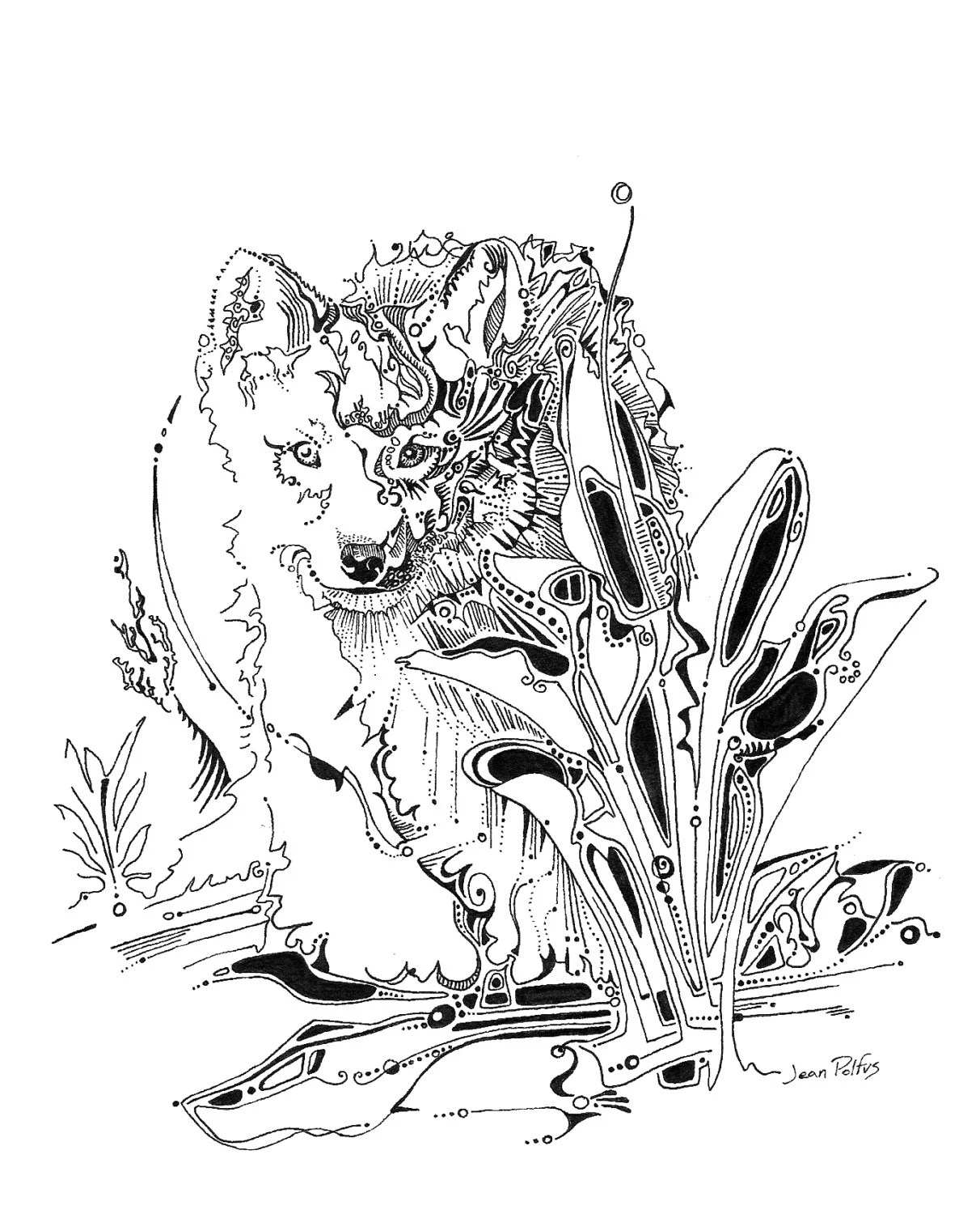 Wolf Pup Drawing : drawing, Drawing, Illustration, Puppy