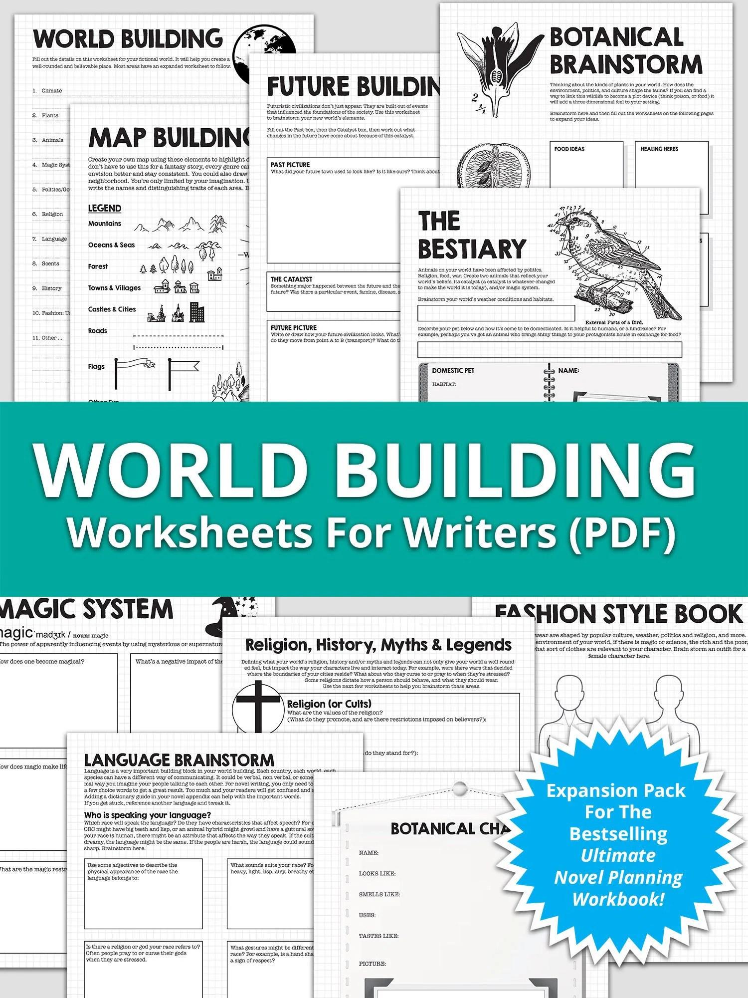 World Building Worksheets Ultimate Novel Planning