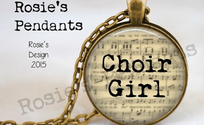 Choir Girl Music Jewelry Singing Jewelry Gift For Singer