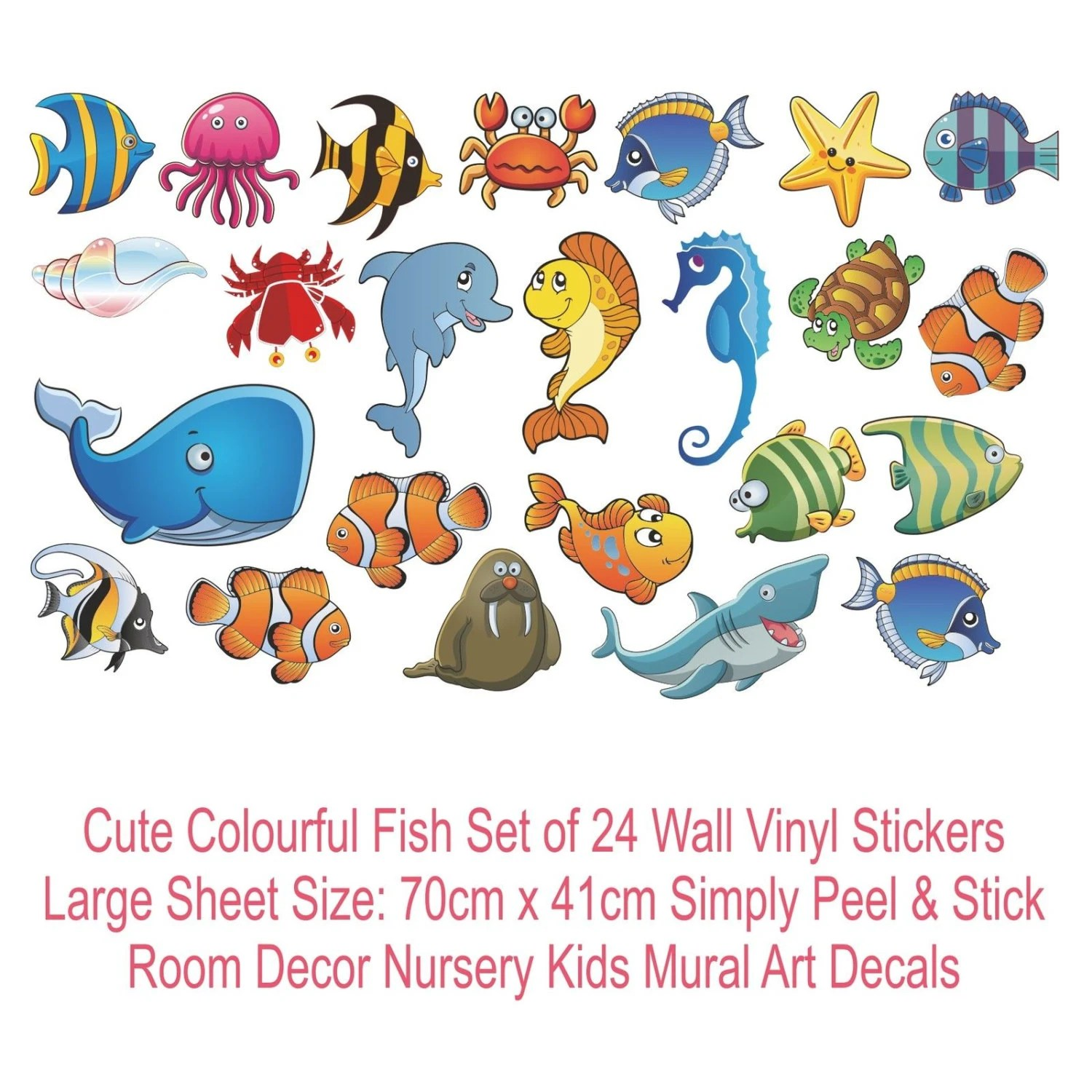 Nemo Bathroom Set Finding Nemo Cute Fish Wall Sticker Set Bathroom Nursery Baby Room Colour Decals