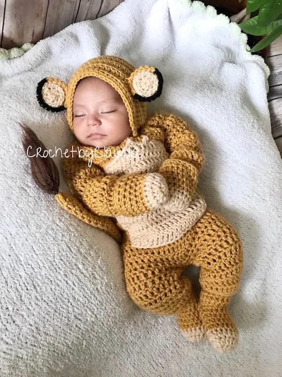 Amazon.com: Newborn Baby Boy Clothes Little Lion Print