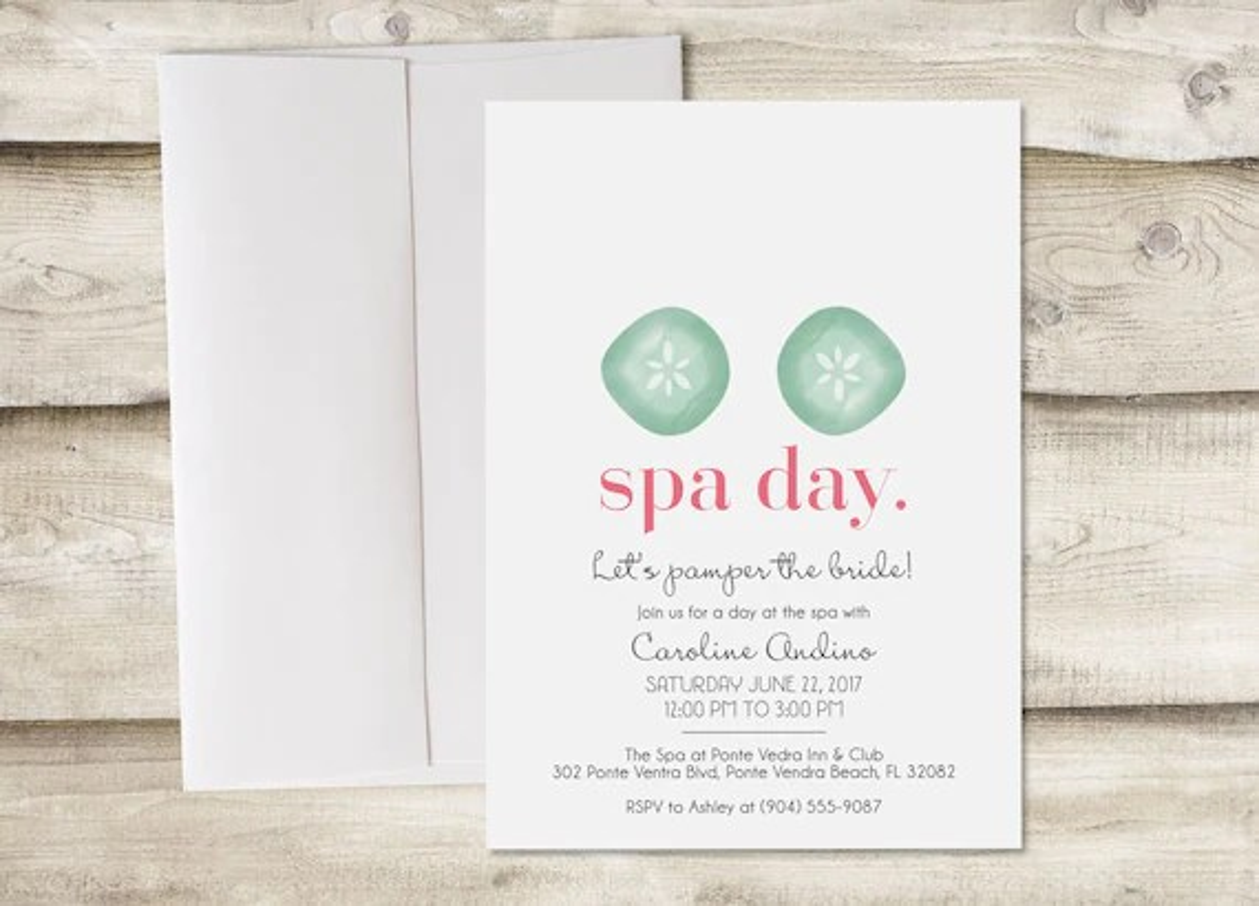 spa day bridal shower