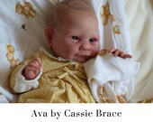 """Would You Like A FREE BabyStyle Rooted Baby? See Item Details! CuStOm ReBoRn Ava by Cassie Brace (19""""+Full Limbs)"""