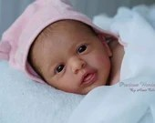FREE Baby w/ Diamond Package - Custom Reborn Babies - Aleyna By Gudrun Legler 20 inches Full limbs 5-7 lbs. Vinyl.