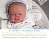 "CuStOm ReBoRn Baby Nino with Dwarfism by Vincenzina Care (19""+Full Limbs)"