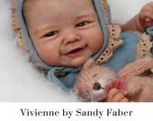 "FREE Bonus Baby!  **Read Item Details** CuStOm ReBoRn BaBy Vivienne by Sandy Faber (21""+Full Arms ~ 3/4 Legs)"