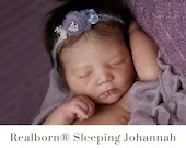 "FREE Bonus Baby!  **Read Item Details** CuStOm ReBoRn BaBy Realborn® Johannah Sleeping (19""+Full Limbs)"