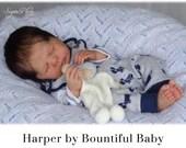 "CuStOm ReBoRn Harper by Bountiful Baby (19""+Full Limbs + BOY ONLY Torso)"