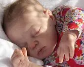 FREE Baby w/ Diamond Package - Custom Reborn Babies - Annie by Adrie Stoete 19 Inches Full limbs 4-5 lb