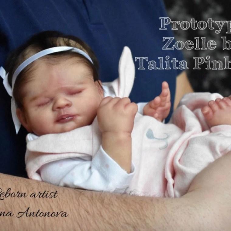 Reborn Babies - Custom Reborn Baby - Zoelle By Talita Pinheiro 17 inches  4-6  lbs Full Limbs