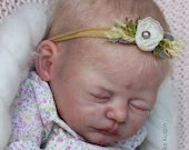 FREE Baby w/ Diamond Package - Custom Reborn Babies - LE Elea By Heike Kolpin 19 inches Full Limbs. 5-7 lbs.