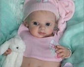 Custom Reborn Babies - Emmi by Regina Labuc-Hoga  19 inches  4-6 lbs  Full arms & legs .