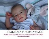 "CuStOm ReBoRn Realborn® Ruby Awake (20""+Full Limbs)"