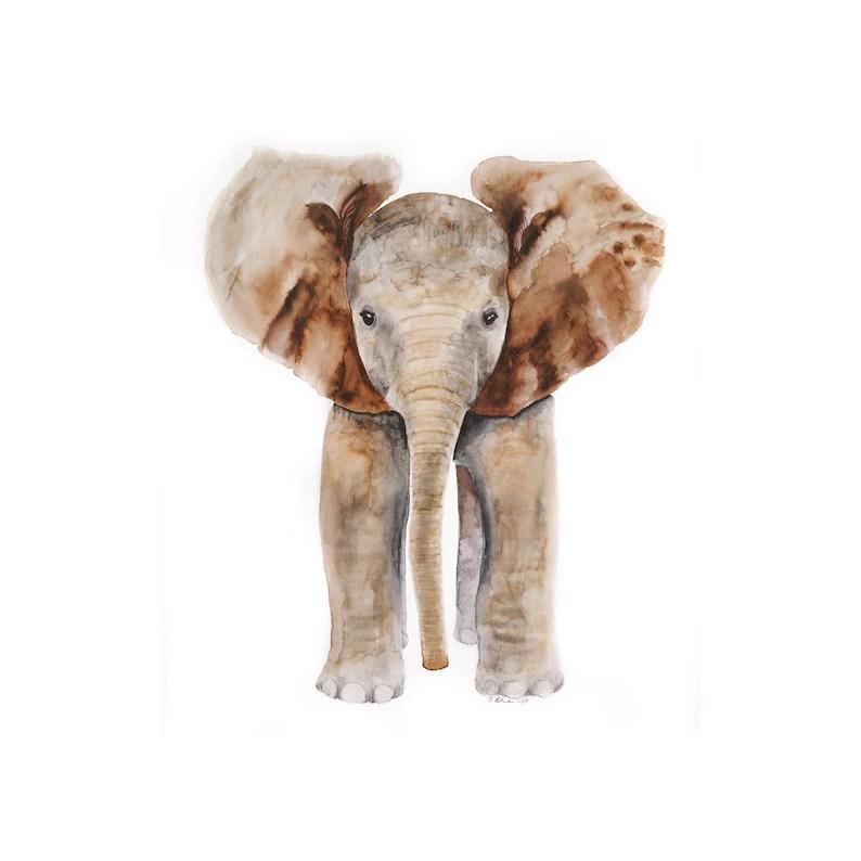 large elephant print baby