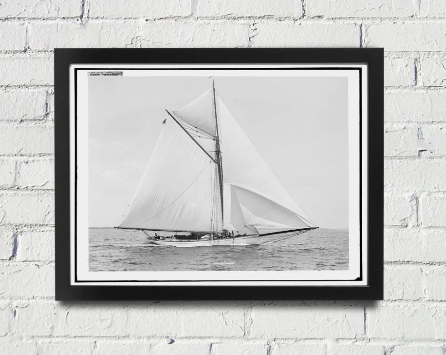 framed sailing photography black