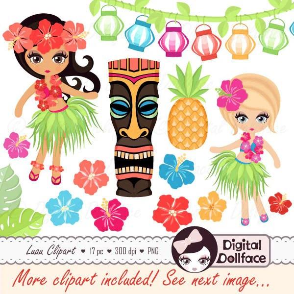 hawaiian luau clipart hula girl