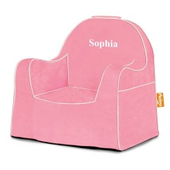 Pink Kids Chair Navy Blue Wingback Slipcover Etsy P Kolino Personalized Solid Little Reader Toddler