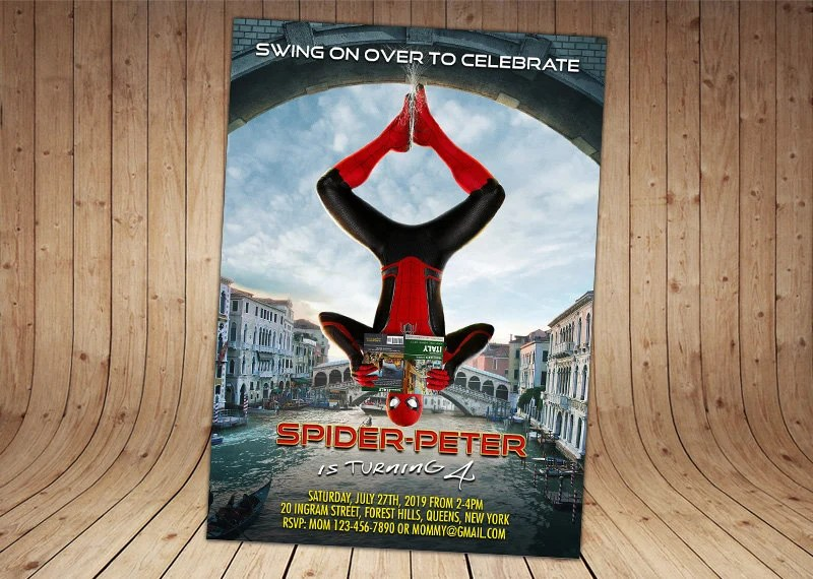 printable spiderman invitations page