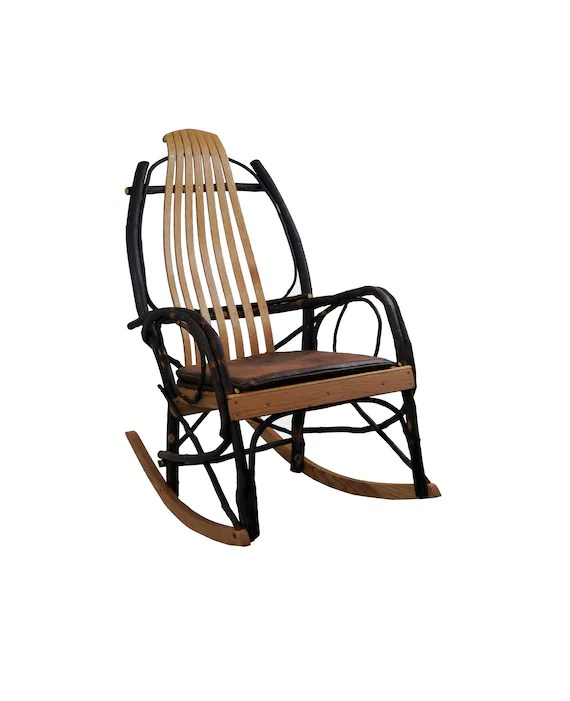 amish made rocking chair cushions cover rental paterson nj bentwood rocker seat cushion distressed faux leather etsy image 0