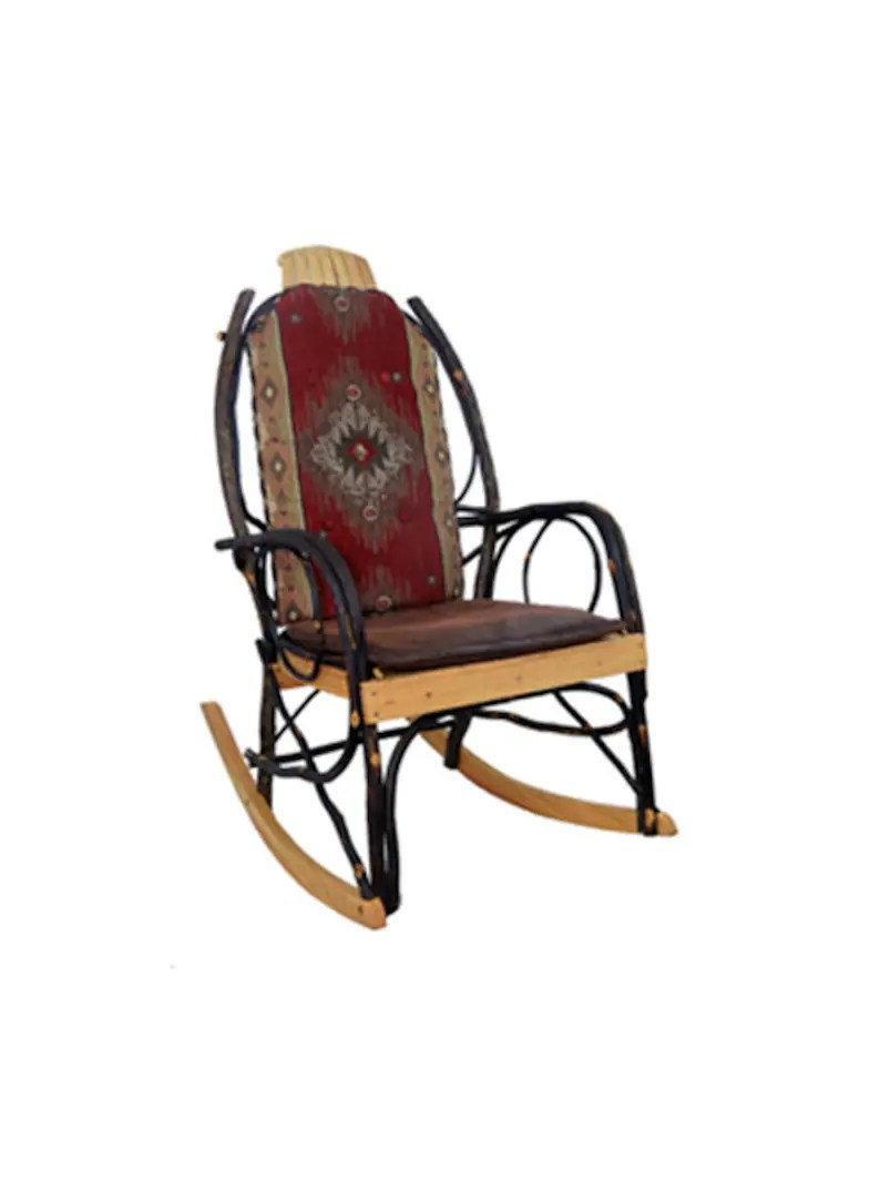 Amish Rocking Chair Cushion Set For Amish Hickory Rocking Chair Red Diamond