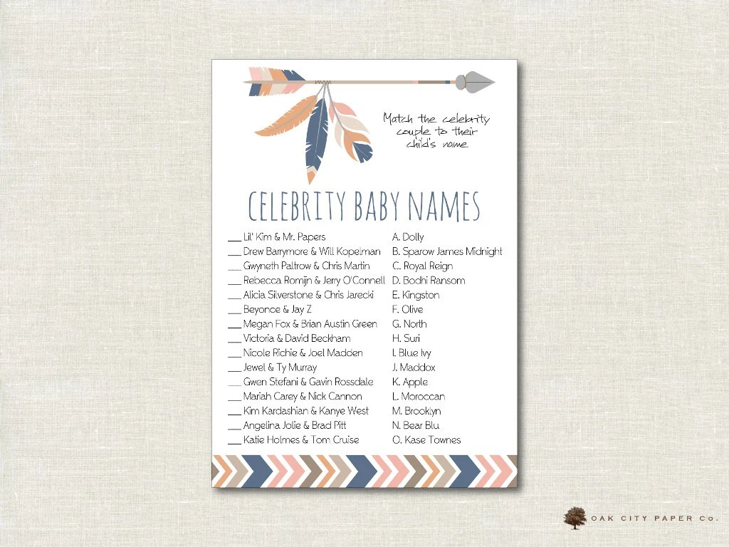 photograph regarding Celebrity Baby Name Game Printable called 98+ No cost Printable Movie star Child Sport By way of Nellie Style and design Self