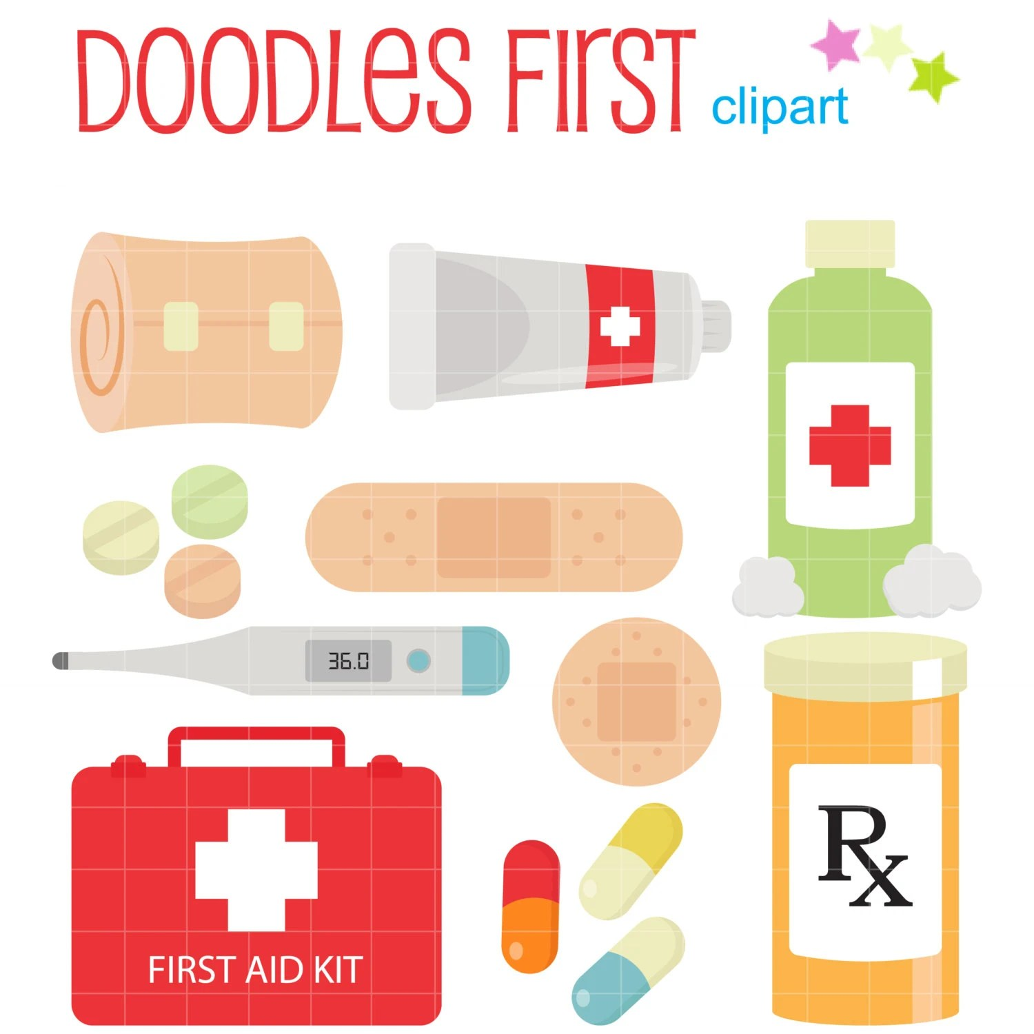 First Aid Kit Digital Clip Art For Scrapbooking Card