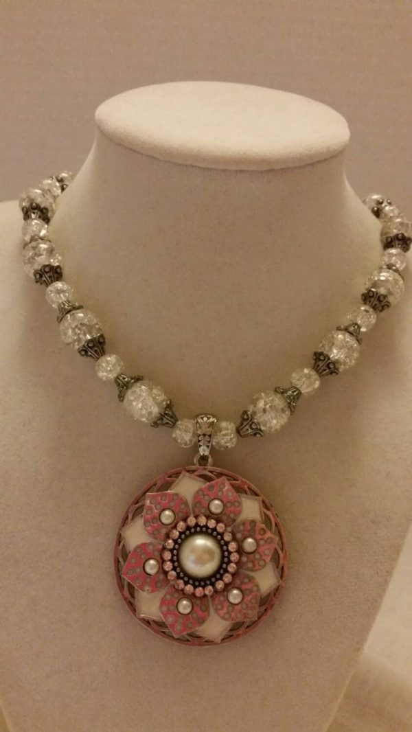 Snowflake Necklace And Earring Set Jewelry