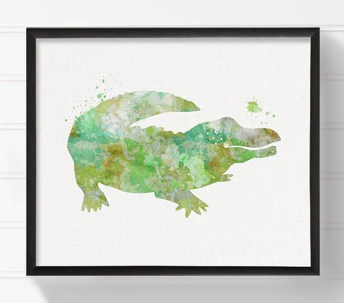 alligator wall art etsy