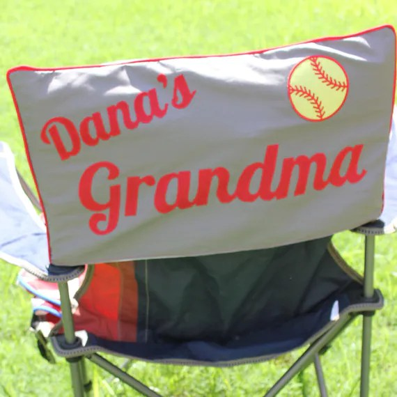 soccer mom covered chairs pottery barn anywhere chair personalized custom sports camping dad cover etsy image 0