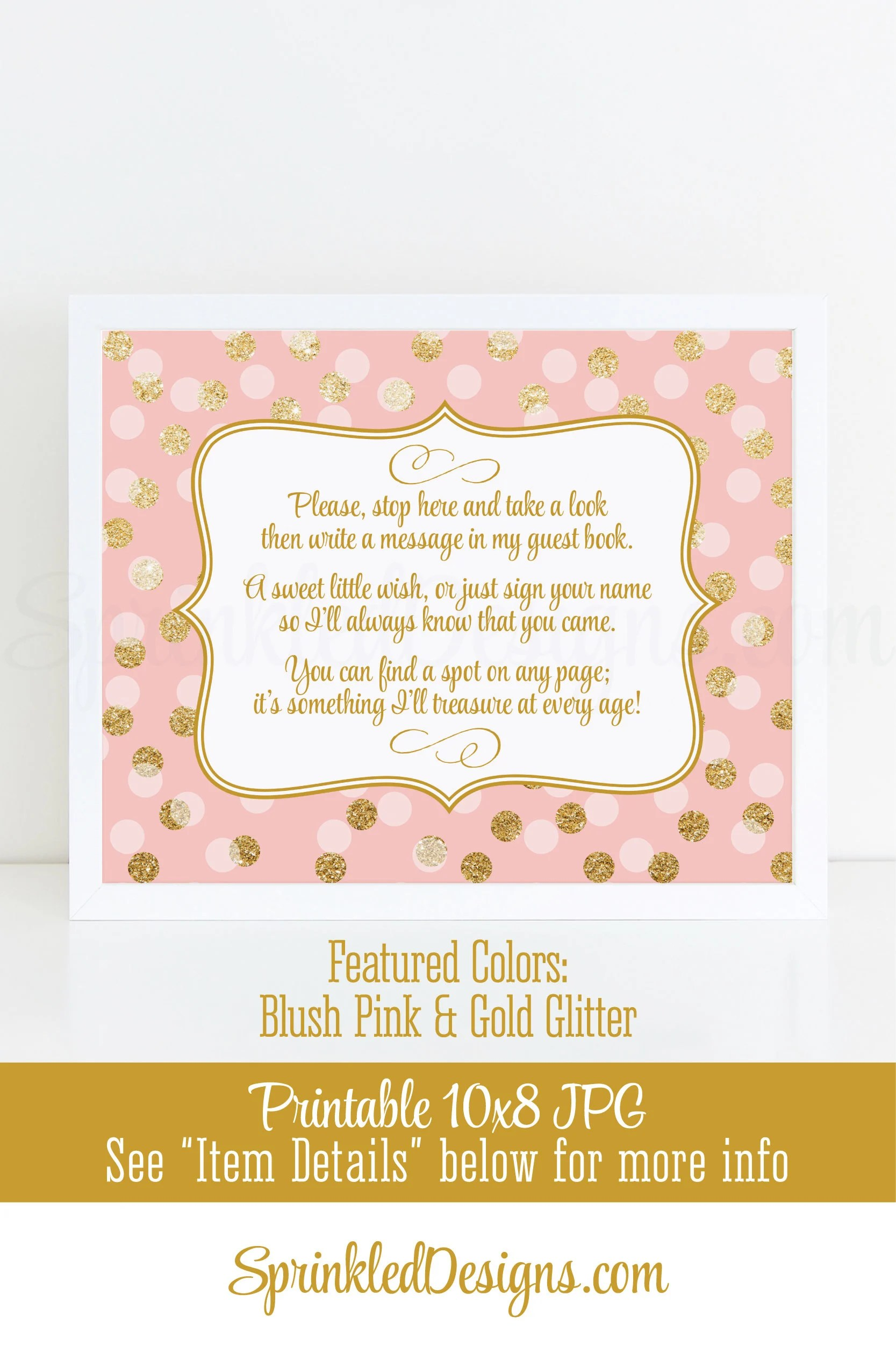 Baby Shower Guest Book Sign : shower, guest, Shower, Guest, Birthday