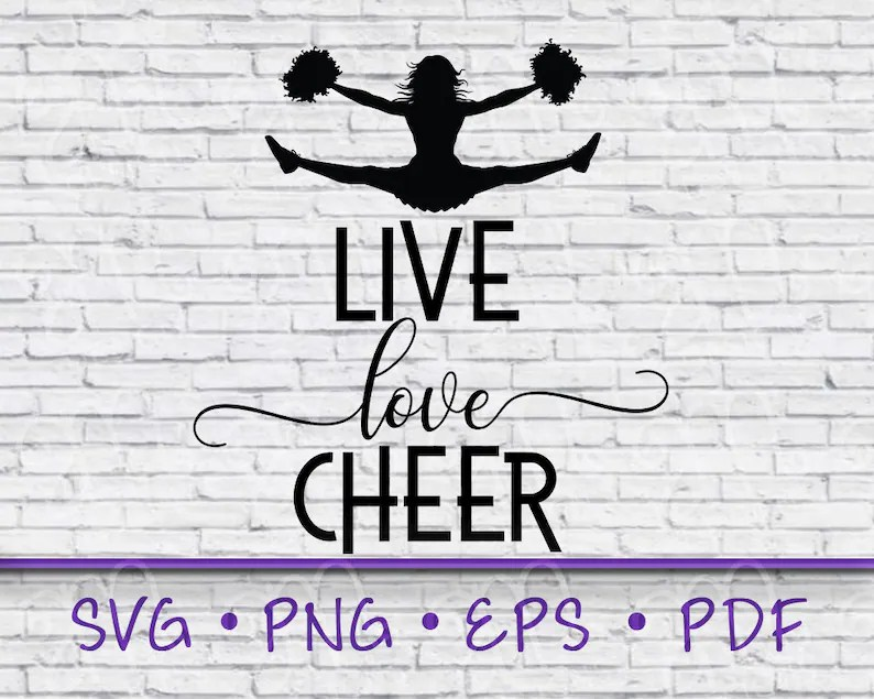 Download Live love cheer live love cheer svg cheerleading | Etsy