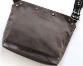 Messenger Bag / Large (Brown)  Waxed Canvas, Leather, Crossbody, Bike Bag, Cycling Bag, Handmade Shoulder Bag, Work Bag, Cyclist