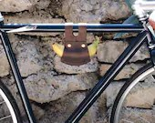 Made to Order Leather Banana Holder (Brown)  Bike, Bicycle, Cycling, Cyclist, Bikeride, Carry