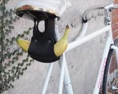 Made to Order Leather Banana Holder (Black)  Bike, Bicycle, Cycling, Cyclist, Bikeride, Carry