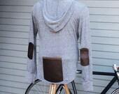 Cycling Hoodie 01 (Light Gray), Cyclist  Clothing, Bike Long Sleeve Tee