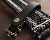 Keychain 02 / Black  Genuine Leather, Key Holder, Key Fob, Leather Strap,