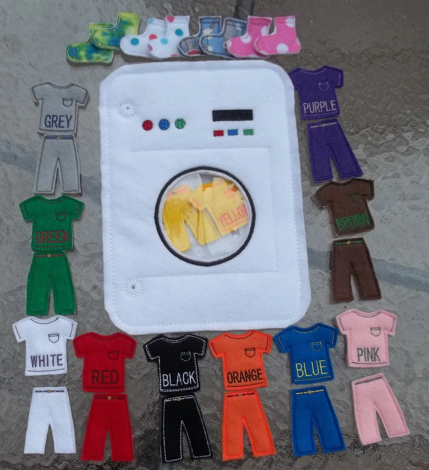 Washing Machine Matching Spell Color Shape Sorting Busy