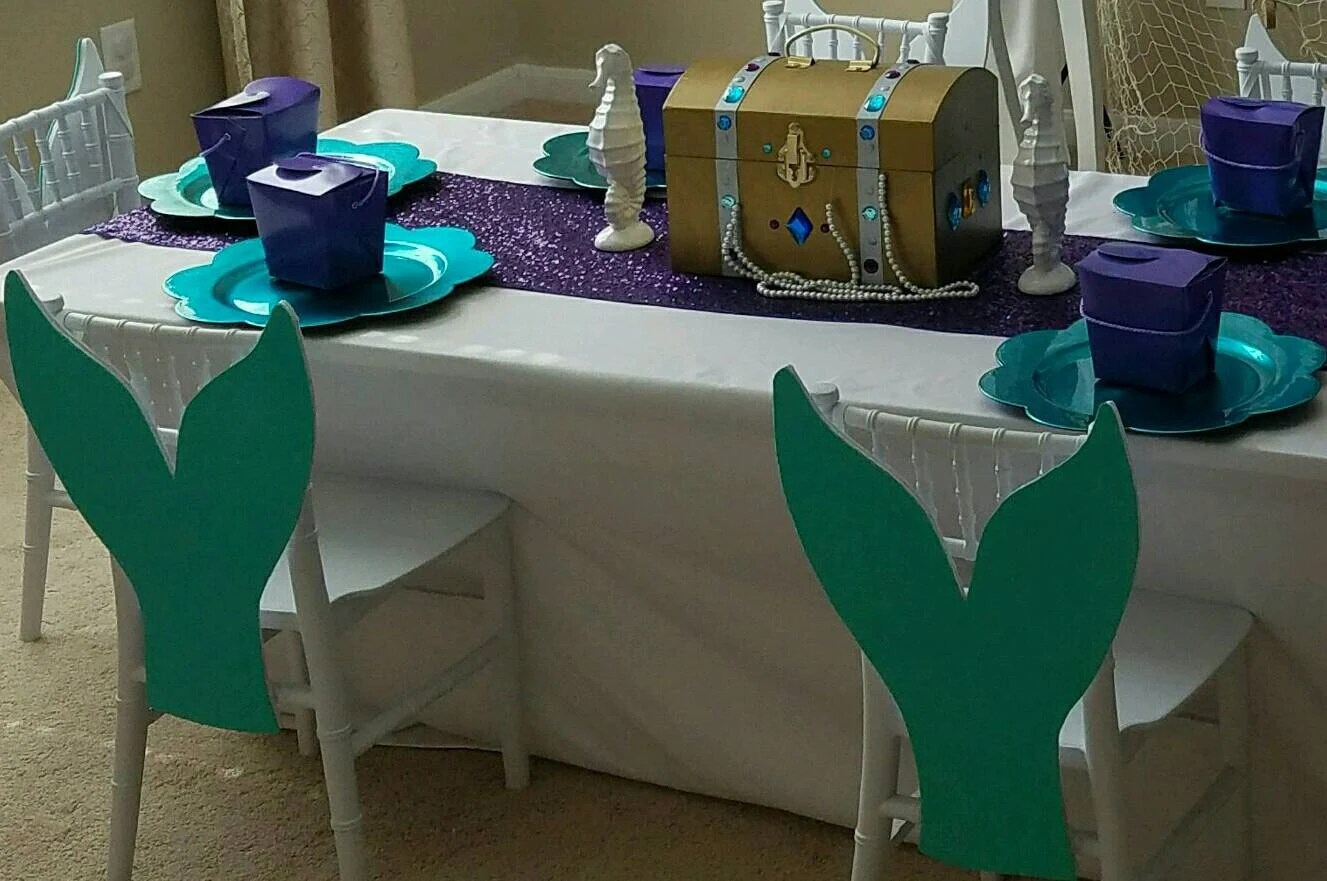 chair covers decorations indoor swing uk 6 mermaid tails etsy image 0