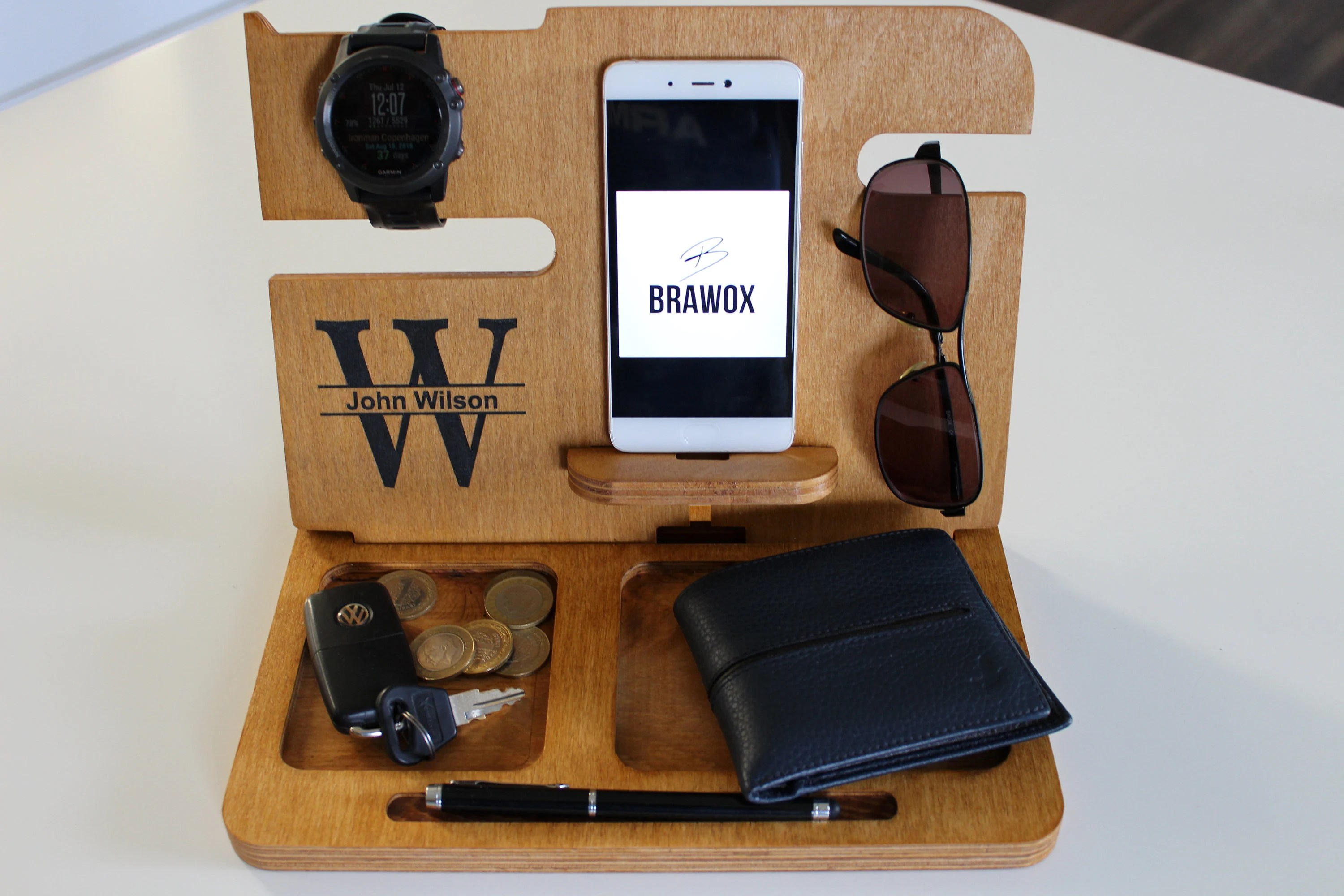 wooden charging station gifts