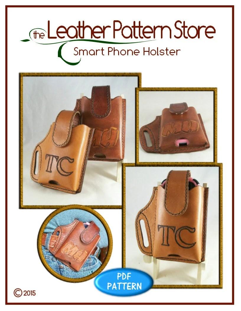 Shoulder Holster Pattern Pdf : shoulder, holster, pattern, PATTERN, Smart, Phone, Holster, Pattern, Leather