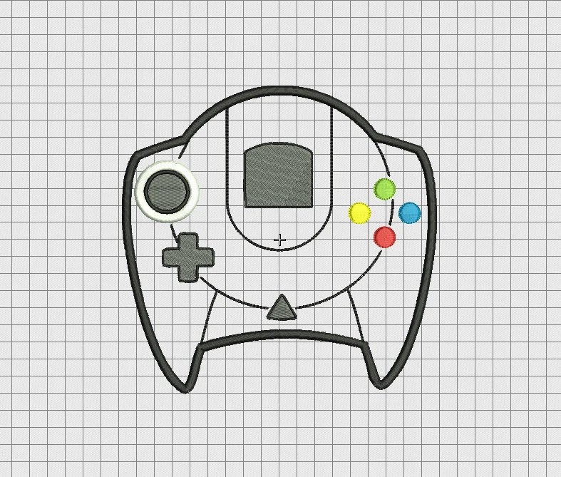 Video Game Controller Sony Playstation PS4 Style Applique
