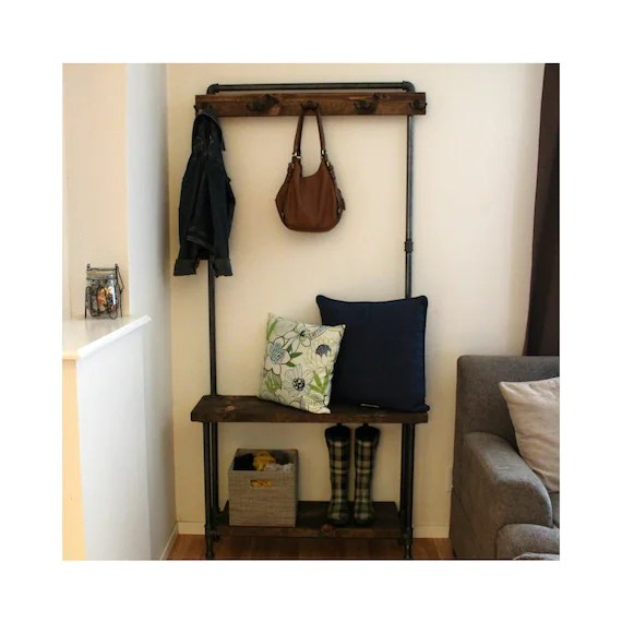 storage for living room bright lighting industrial hall tree rustic entry way etsy image 0