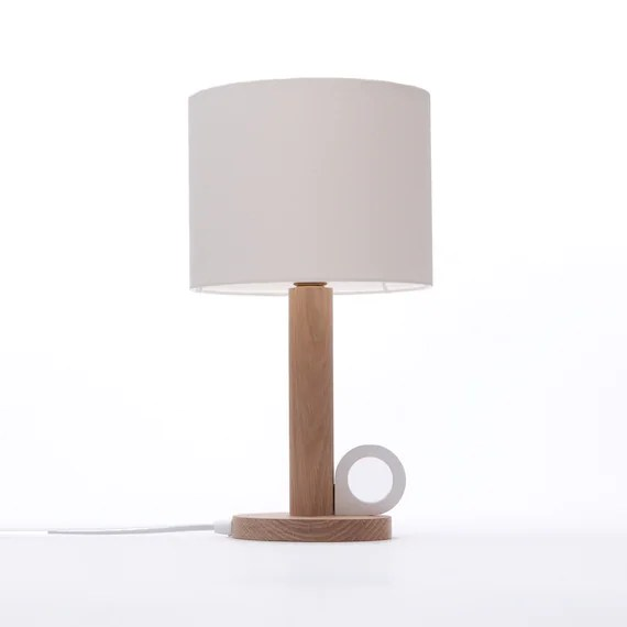 Wooden Table Lamp Oak Table Lamp Bedside Lamp Small Etsy