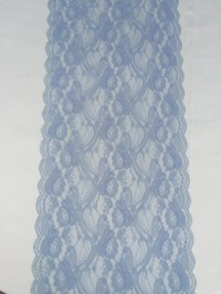 30ft/DUSTY BLUE Lace Table Runner/12 wide/Wedding Decor
