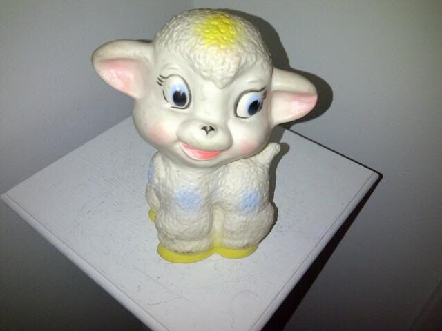 Vintage Lamb Tilly Toy Squeak Toy image 1