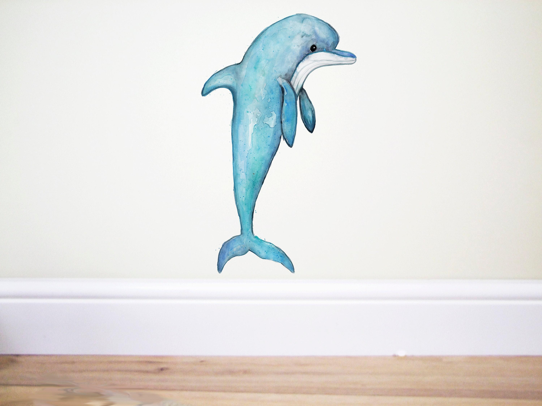 Wandtattoo Delfin Delphin Aufkleber Delphin-Wand-Kunst
