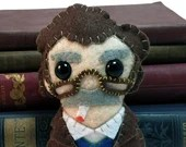 Kurt Vonnegut plushie (made to order - may not arrive in time for Christmas)
