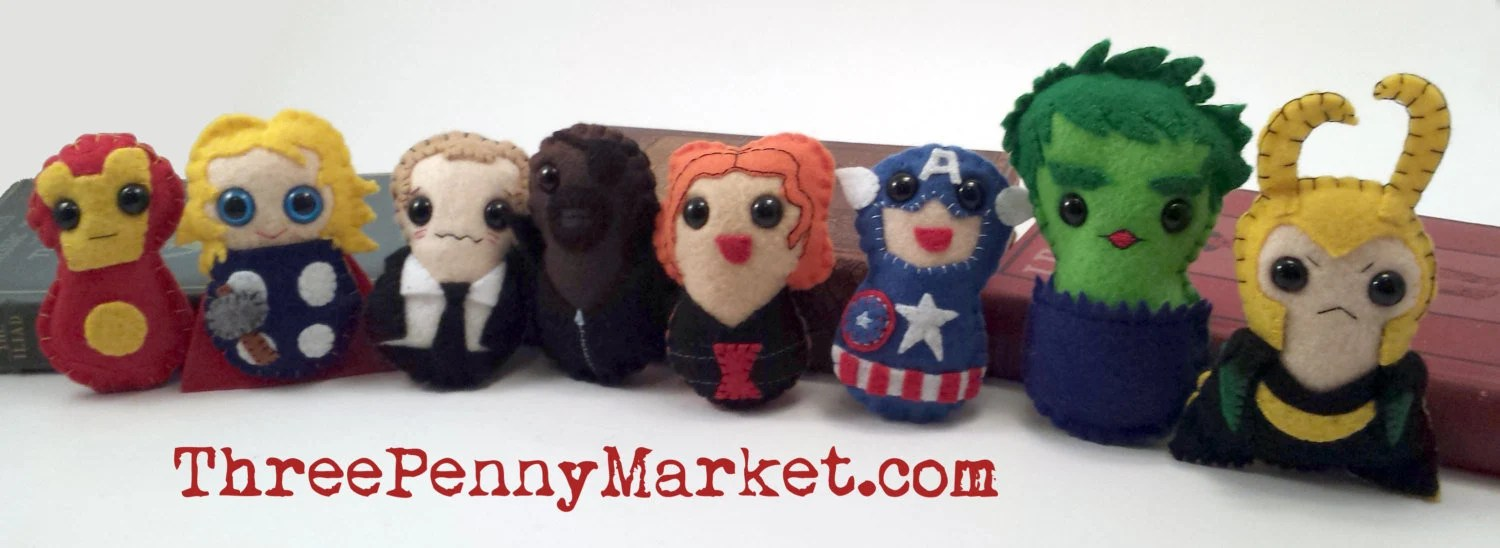 Avengers plushies (made t...