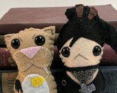 Jane Yellowrock and Beast plushies (made to order)