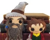 Bilbo and Gandalf plushies (made to order - may not arrive in time for Christmas)